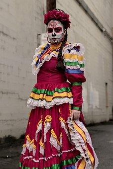 Mexican, Latino, Catrina, Mexico, Hispanic, Skull