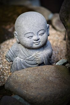 Statue, Sculpture, Monk, Little Monk, Baby Monk