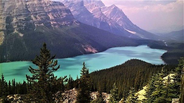 Valley, Mountain, Summit, Landscape, Peak, Panorama