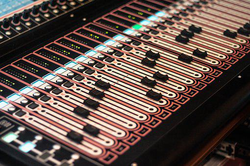 Fader, Audio Mixer, Console, Music, Sound, Audio, Mixer