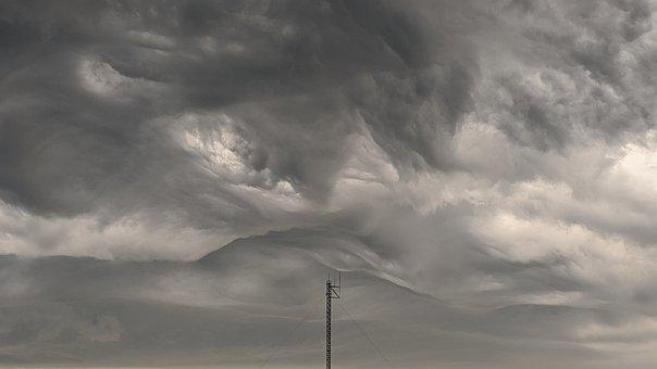 Thunderstorm, Clouds, Storm, Sky, Weather, Nature
