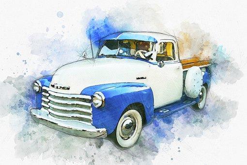 Truck, Car, Vehicle, Automobile, Old, Vintage, Antique