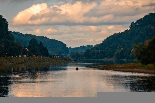 River, Boat, Rowing, Canoeing, Canoe, Water, Scenic
