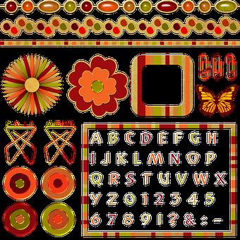 Scrapbook, Decorations, Decorative, Autumn, Fall