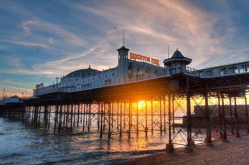 Brighton Pier, Arcade, Beach, Boardwalk, Building