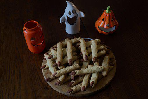 Cake, Witch's Fingers, Creepy, Scary, Halloween