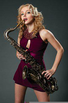 Woman, Saxophone, Fashion, Musician, Musical Instrument