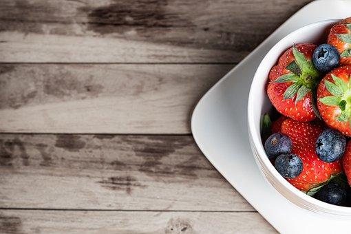 Strawberries, Berries, Fruit, Food, Breakfast, Dessert