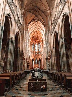 Arhictecture, Cathedral, Interior, Church, Catholic