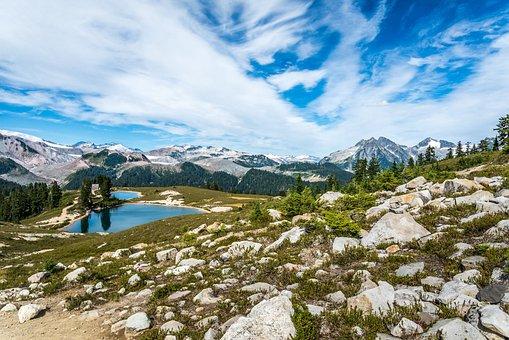 Mountains, Lake, Rocks, Stones, Mountainous