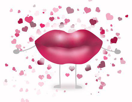 Lips, Hearts, Icon, Woman's Lips, Mouth, Love, Kiss