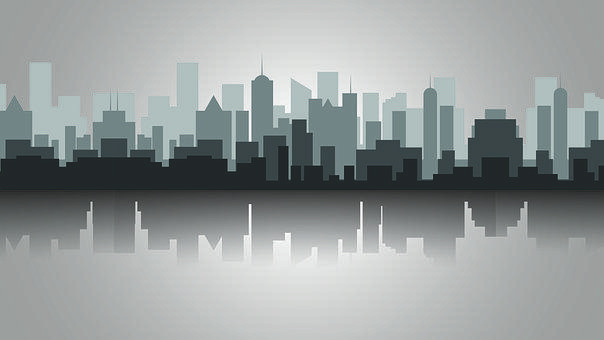 City, Buildings, Skyline, Reflection, Skyscrapers