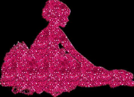 Ballerina, Ballet, Glitters, Pink, Girl, Female, Woman