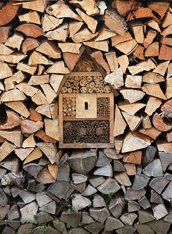 Insect Hotel, Wood, Firewood, Bug Hotel, Insect House