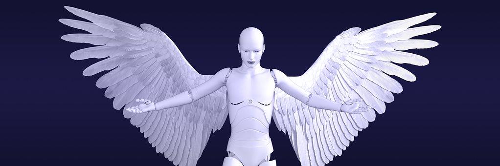 Angel, Cyborg, Futuristic, Character, Robotic