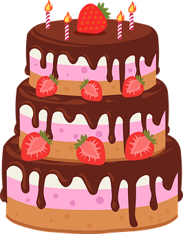 Cake, Birthday Cake, Pastry, Strawberry Cake