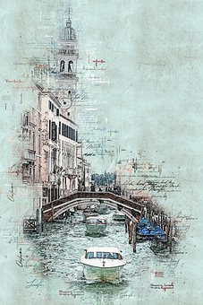 Canal, Boats, Bridge, Venice, Architecture, City