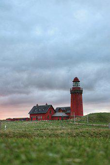 Lighthouse, Building, Structure, Grass, Pasture, Field