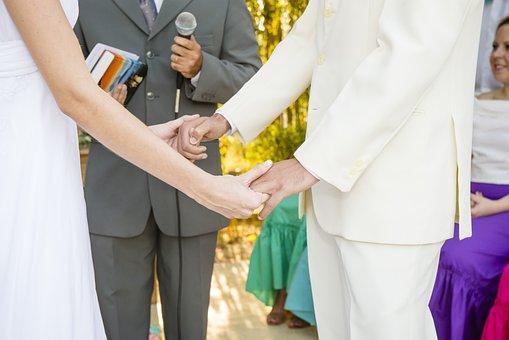 Wedding, Bride, Groom, Couple, Marriage, Hands