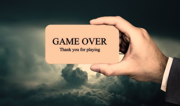 Game, Game Over, Player, Hand, Business Card, Universe