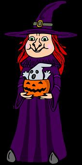 Witch, Pumpkin, Spirit, Halloween, Monster, Masquerade