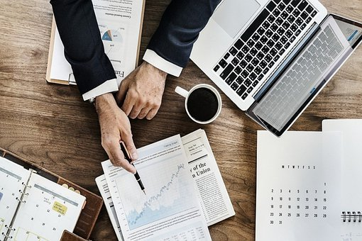 Businessman, Laptop, Stocks, Stock Exchange, Broker