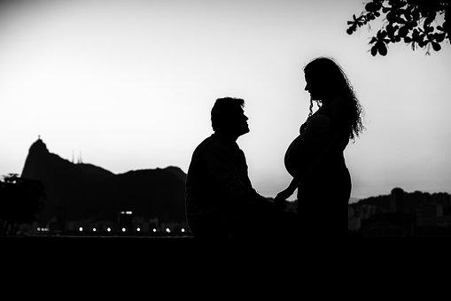 Maternity, Pregnant, Family, Silhouettes