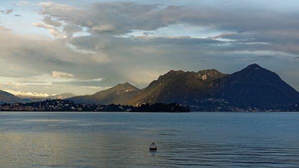 Lake, Mountains, Boat, Nature, Rowboat, Vessel, Boating