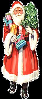 Santa Claus, Christmas, Vintage, Santa