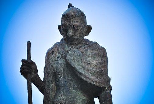 Mahatma Gandhi, Statue, Sculpture, Stone, India