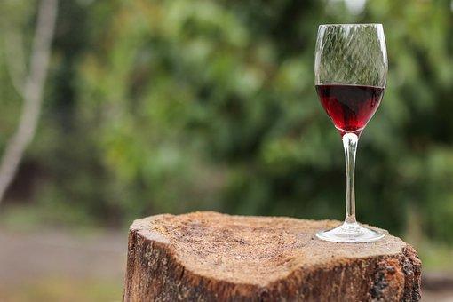 Wine, Glass, Stump, Red Wine, Wine Glass, Drink