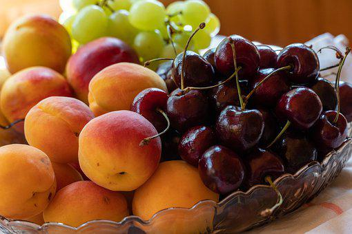 Apricots, Cherries, Bowl, Bowl Of Fruits, Fresh Fruits