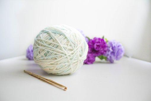 Wool, Yarn, Crochet, Ball, Ball Of Wool, Ball Of Yarn