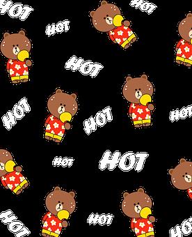 Bear, Fan, Heat, Sweat, Hot