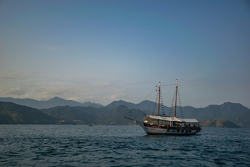 Sea, Ship, Mountains, Islands, Ocean, Boat, Navigation