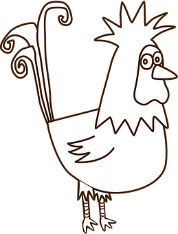 Rooster, Chicken, Male, Cartoon, Animal