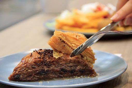 Slice, Baklava, Food, Dessert, Sweet, Delicious