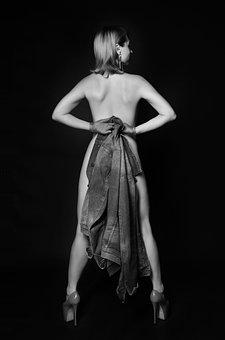 Model, Woman, Portrait, Female Model, Back, Posture