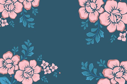 Flowers, Border, Design, Floral, Pattern, Frame, Stems