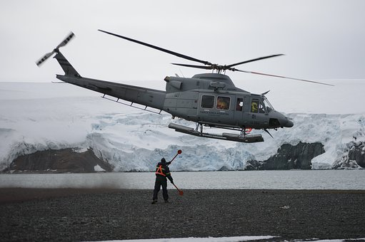 Helicopter, Glacier, Military, Crew, Sea, Naval