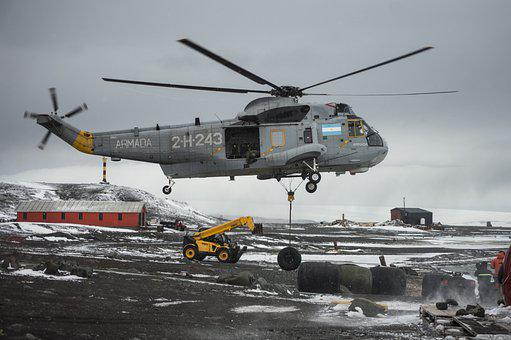 Helicopter, Flight, Base, Sky, Antarctica, Logistics