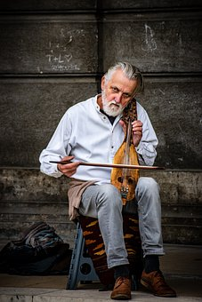 Musician, Old Man, Instrument, Musical Instrument