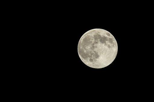 Moon, Sky, Craters, Full Moon, Moonlight, Luna, Lunar