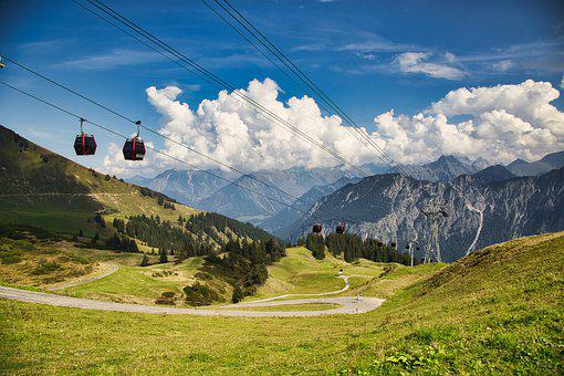 Cable Car, Mountains, Cables, Gondolas