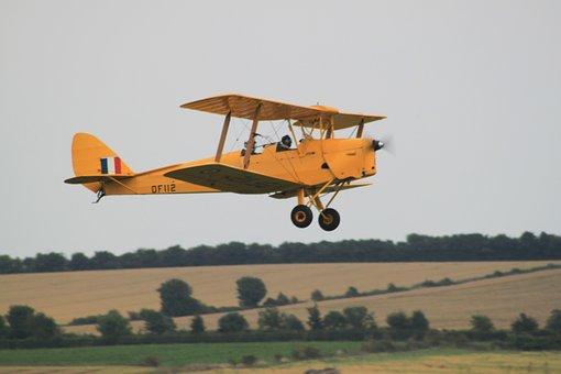 Biplane, Aircraft, Flight, In Flight, Pilot, Airplane