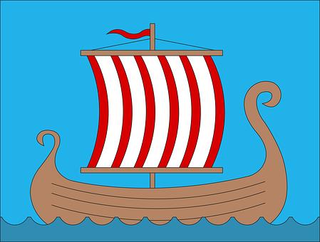 Vikings, Drakar, Ship, Boat, Sails, Sailing, Sail Boat