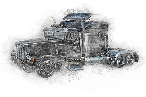 Truck, Vehicle, Semi Trailer, Wheels, Transportation