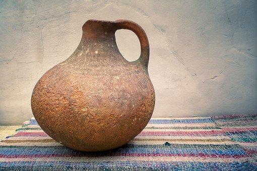 Jar, Water Jug, Pot, Wall, Decorative, Deco, Fragile
