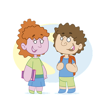 Children, Friends, Books, School, Girl, Boy, Education