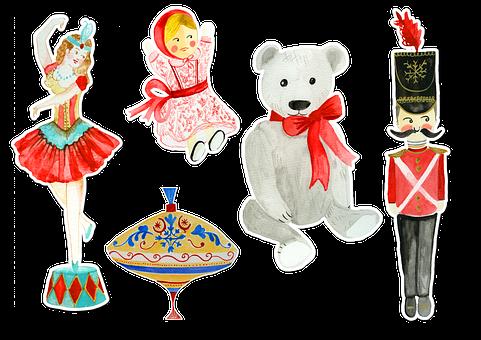 Doll, Bear, Ballerina, Dancer, Soldier, Top